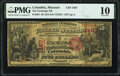 National Bank Notes:Missouri, Columbia, MO - $5 1875 Fr. 401 The Exchange National Bank Ch. # 1467 PMG Very Good 10.. ...