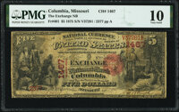 Columbia, MO - $5 1875 Fr. 401 The Exchange National Bank Ch. # 1467 PMG Very Good 10