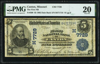 Canton, MO - $5 1902 Date Back Fr. 590 The First National Bank Ch. # (M)7729 PMG Very Fine 20