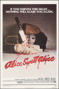 "Movie Posters:Horror, Alice, Sweet Alice (Allied Artists, 1977). Folded, Very Fine-. One Sheet (27"" X 41"") & Lobby Card (11"" X 14""). Horror.. ... (Total: 2 Items)"
