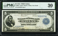 Fr. 806 $5 1915 Federal Reserve Bank Note PMG Very Fine 30