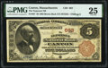 Canton, MA - $5 1882 Brown Back Fr. 467 The Neponset National Bank Ch. # 663 PMG Very Fine 25.<