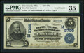 National Bank Notes:Ohio, Cincinnati, OH - $5 1902 Date Back Fr. 592 The Fifth-Third National Bank Ch. # (M)2798 PMG Choice Very Fine 35.. ...