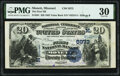 National Bank Notes:Missouri, Monett, MO - $20 1882 Value Back Fr. 581 The First National Bank Ch. # (M)5973 PMG Very Fine 30.. ...