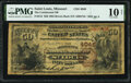 Saint Louis, MO - $50 1882 Brown Back Fr. 515 The Continental National Bank Ch. # 4048 PMG Very Good 10
