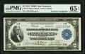 Large Size:Federal Reserve Bank Notes, Clerk and Calkins Dual Courtesy Autographed Fr. 779 $2 1918 Federal Reserve Bank Note PMG Gem Uncirculated 65 EPQ.. ...