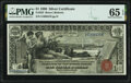 Large Size:Silver Certificates, Fr. 225 $1 1896 Silver Certificate PMG Gem Uncirculated 65 EPQ.. ...