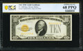 Small Size:Gold Certificates, Fr. 2400 $10 1928 Gold Certificate. PCGS Banknote Superb Gem Unc 68 PPQ.. ...