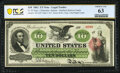 Large Size:Legal Tender Notes, Fr. 93 $10 1862 Legal Tender PCGS Banknote Choice Unc 63.. ...