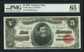 Fr. 364 $5 1891 Treasury Note PMG Gem Uncirculated 65 EPQ
