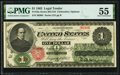 Fr. 16a $1 1862 Legal Tender PMG About Uncirculated 55