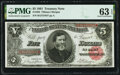 Fr. 363 $5 1891 Treasury Note PMG Choice Uncirculated 63 EPQ