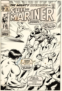 Sal Buscema Sub-Mariner #35 Cover Original Art (Marvel, 1971)