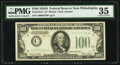 Fr. 2156-C* $100 1934D Federal Reserve Note. PMG Choice Very Fine 35