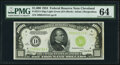 Fr. 2211-D $1,000 1934 Light Green Seal Federal Reserve Note. PMG Choice Uncirculated 64