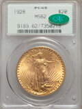 Saint-Gaudens Double Eagles: , 1928 $20 MS62 PCGS. CAC. PCGS Population: (8103/51355). NGC Census: (9765/42467). CDN: $1,795 Whsle. Bid for NGC/PCGS MS62....