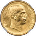 Italy, Italy: Vittorio Emanuele III gold Pattern 20 Lire 1903-(M) MS66 NGC,...