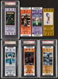 Football Collectibles:Tickets, 2002-10 Super Bowl Full Tickets, Lot of 7.... (Total: 7 items)