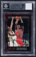 """Basketball Cards:Singles (1980-Now), 1999 Upper Deck Michael Jordan """"The M.J. Record Book"""" Jersey Relic Card #51 BGS Mint 9. ..."""