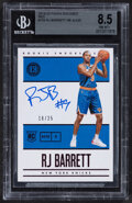 Basketball Cards:Singles (1980-Now), 2019-20 Panini Encased R.J. Barrett Red Autograph #104 BGS NM-MT+ 8.5 - Serial Numbered 18/25....