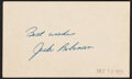 Autographs:Index Cards, 1950s Jackie Robinson Signed Index Card. ...