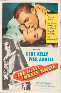 """The Devil Makes Three (MGM, 1952). Folded, Fine. One Sheet (27"""" X 41""""). Thriller"""
