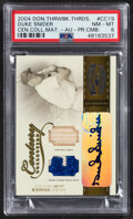 Baseball Cards:Singles (1970-Now), 2004 Donruss Throwback Threads Century Collection Materials Duke Snider Autograph Relic #CC-19 PSA NM-MT 8 - Serial Numbered 1...