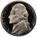 1971 5C No S PR69 Cameo PCGS. FS-501. The coin is accompanied by the other four coins in the 1971 proof set: cent, dime...