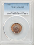 1869 1C MS64 Red and Brown PCGS. PCGS Population: (283/142). NGC Census: (116/126). CDN: $1,000 Whsle. Bid for NGC/PCGS...