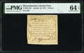 Colonial Notes:Massachusetts, Massachusetts October 16, 1778 3d PMG Choice Uncirculated 64 EPQ.. ...