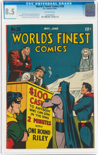 World's Finest Comics #28 (DC, 1947) CGC VF+ 8.5 Off-white pages