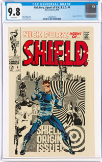 Nick Fury, Agent of S.H.I.E.L.D. #4 (Marvel, 1968) CGC NM/MT 9.8 White pages