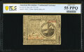 Continental Currency November 29, 1775 $2 PCGS Banknote Choice About Uncirculated 55 PPQ