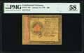 Colonial Notes:Continental Congress Issues, Continental Currency January 14, 1779 $80 PMG Choice About Unc 58.. ...