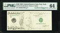 Insufficient Inking of Second Printing Error Fr. 2175-B $100 1996 Federal Reserve Note. PMG Choice Uncirculated 64