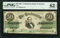 Confederate Notes:1861 Issues, T16 $50 1861 PF-11 Cr. 83 PMG Choice Uncirculated 63 EPQ.. ...