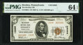 National Bank Notes:Pennsylvania, Hershey, PA - $5 1929 Ty. 2 The Hershey National Bank Ch. # 12688 PMG Choice Uncirculated 64 EPQ.. ...