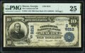 National Bank Notes:Georgia, Macon, GA - $10 1902 Date Back Fr. 618 The Commercial National Bank Ch. # (S)9212 PMG Very Fine 25.. ...
