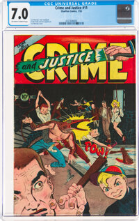 Crime and Justice #11 (Charlton, 1953) CGC FN/VF 7.0 Off-white to white pages