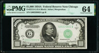 Fr. 2212-G $1,000 1934A Federal Reserve Note. PMG Choice Uncirculated 64