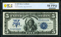 Large Size:Silver Certificates, Fr. 274 $5 1899 Silver Certificate PCGS Banknote Choice AU 58 PPQ.. ...