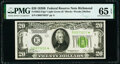Small Size:Federal Reserve Notes, Fr. 2052-E* $20 1928B Light Green Seal Federal Reserve Note. PMG Gem Uncirculated 65 EPQ.. ...