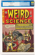 Golden Age (1938-1955):Science Fiction, Weird Science 14 (#3) (EC, 1950) CGC VF 8.0 Off-white pages....