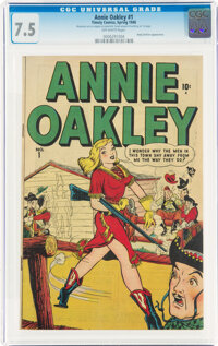 Annie Oakley #1 (Timely, 1948) CGC VF- 7.5 Off-white pages