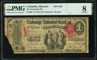 Columbia, MO - $1 1875 Fr. 385 The Exchange National Bank Ch. # 1467 PMG Very Good 8