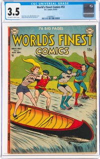 World's Finest Comics #53 (DC, 1951) CGC VG- 3.5 Off-white to white pages