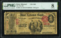 Paris, MO - $1 1875 Fr. 384 The First National Bank Ch. # 1803 PMG Very Good 8