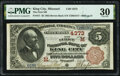 King City, MO - $5 1882 Brown Back Fr. 471 The First National Bank Ch. # (M)4373 PMG Very Fine 30.<