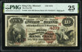 National Bank Notes:Missouri, King City, MO - $10 1882 Brown Back Fr. 484 The First National Bank Ch. # (M)4373 PMG Very Fine 25.. ...