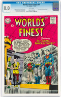 Silver Age (1956-1969):Superhero, World's Finest Comics #91 (DC, 1957) CGC VF 8.0 White pages....